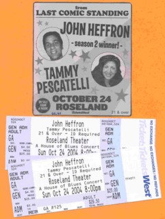 photo of tickets to Comedy Show